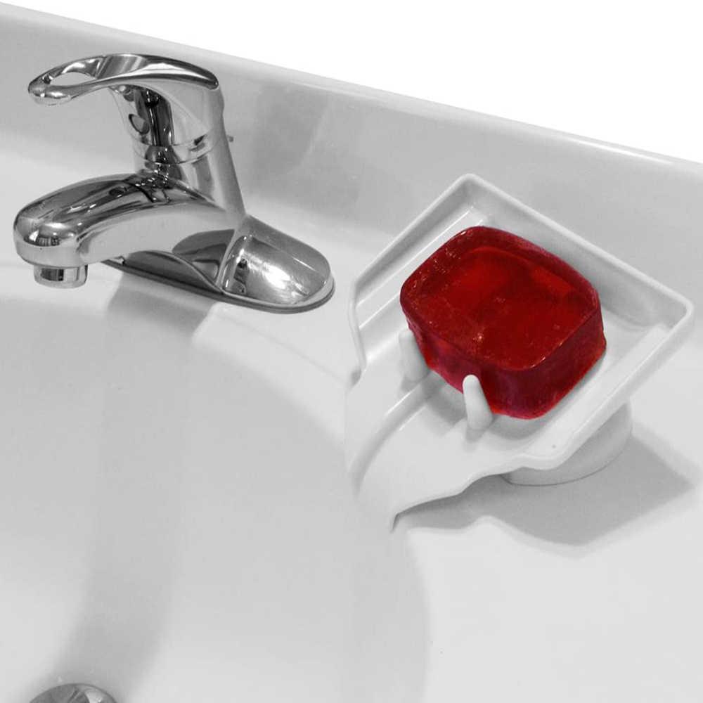 Piatto di sapone Saver Holder Supporto di Aspirazione Asciugatrice Cascata di Scarico Pulito E Asciutto Pulito Sapone Bar Holder