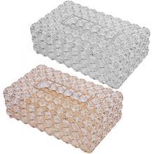 Коробка для салфеток, влажных салфеток, прямоугольная коробка для салфеток из Искусственного хрусталя, держатель для хранения салфеток, домашний декор, туалетная бумага