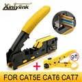 Xintylink EZ rj45 szczypce crimper cat5 cat6 cat7 narzędzie sieciowe rg rj 45 kabel ethernet Stripper naciskając zacisk szczypce klip rg45 lan