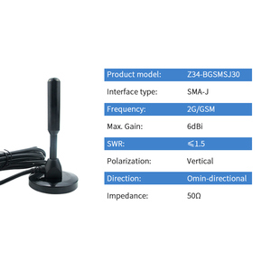 Image 2 - 2G GSM Antenna GPRS Copper Antenna with Magnetic Base SMA Male Wireless Module Car Auto Antena Signal Booster Z34 BGSMSJ30