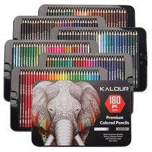 Crayons de couleur avec boîte en métal, 180 Crayons de couleur uniques et Crayons pré-aiguisés pour livre de coloriage-stylos cadeaux de noël idéaux