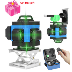 4D 16 Lines Laser Level Green Beam 360 Horizontal And Vertical Cross Lines Auto Self-Leveling APP Remote Control Laser Levels