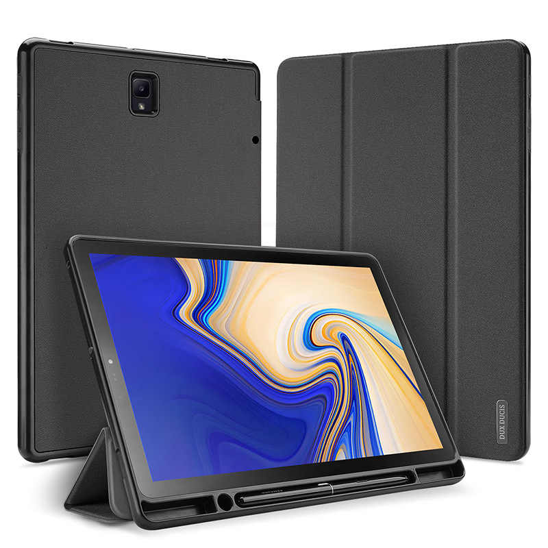 Dux ducis Suitable for SAMSUNG Tab S4 10.5 Tablet PC Covers All Edges Included Shatter-resistant Three Fold PU Cover