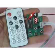 DC4-6V Gear display Adjustable speed 2-phase 4-wire 6-wire stepper motor driver control board With remote control