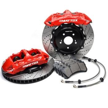 Mattox One-piece Forged 6POT Piston Caliper Racing Performance Brake Rotor for BMW E65 E66 7-Series  2002-2008