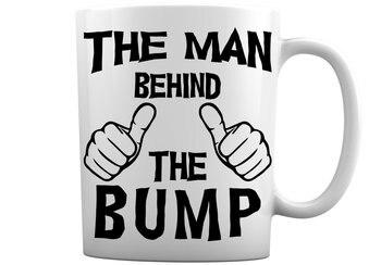 El hombre detrás del Bump taza de café divertida taza de café blanca de 11 onzas