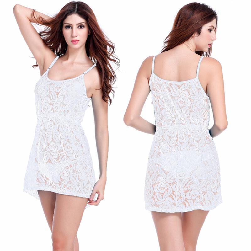 EBay Amazon Hot Selling Bikini Outer Blouse Lace Hollow Out Transparent Crochet Camisole Off-Shoulder One Piece Beach Skirt