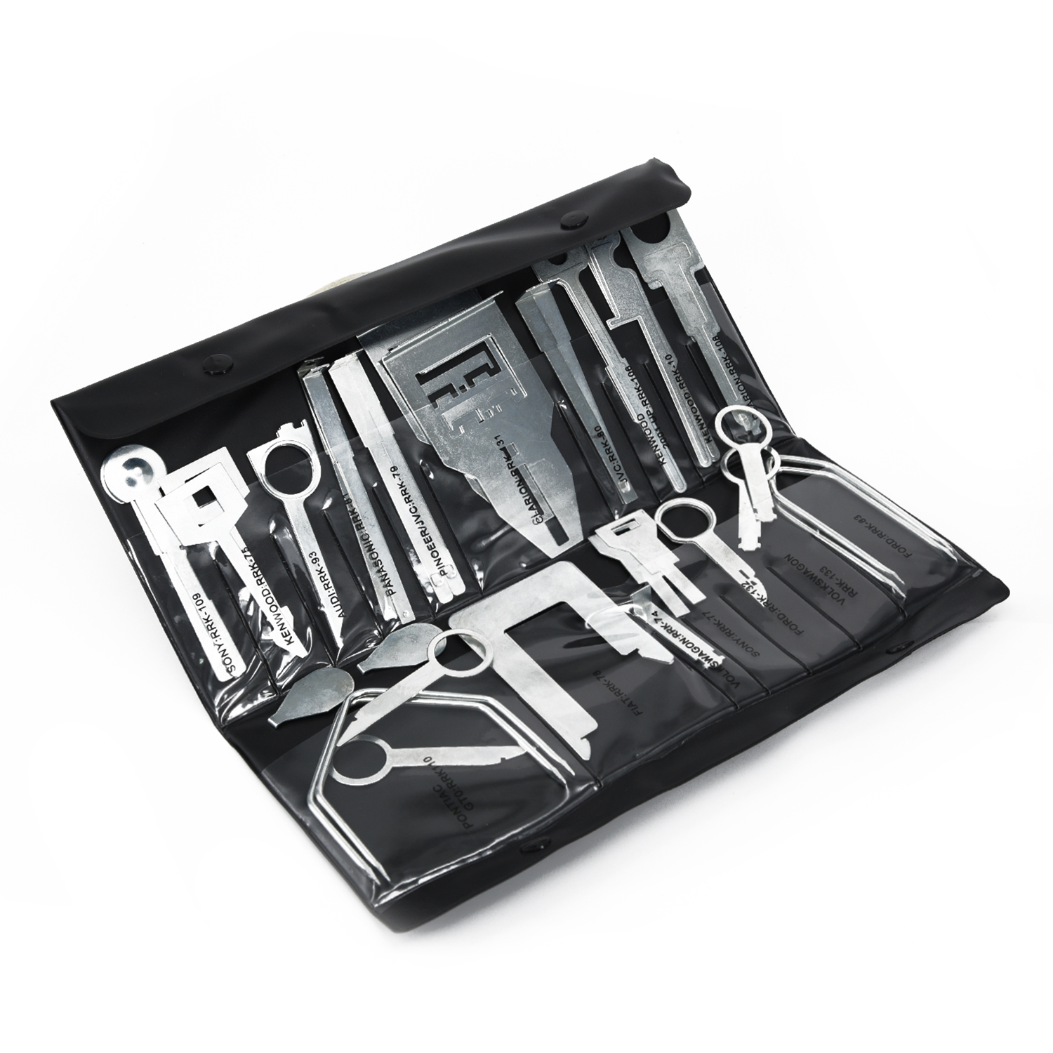Radio Car Removal Tool Set Opening Automobile Stainless Steel CD Release For Ford Silver 16 5