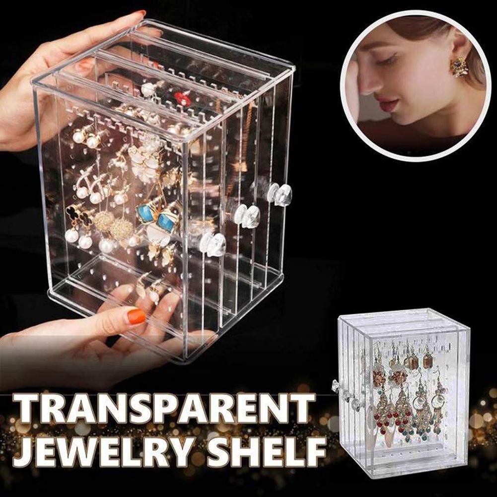 Earrings Showcase Stand Box Ear Stud Case Organizer Jewelry Display Rack Holder Pendientes Organizador ювилирные украшения