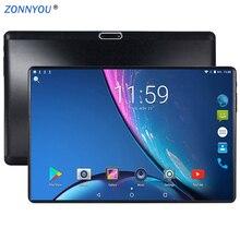 10,1 дюймов Android планшет Android таб ПК 7,0 gps Wi-Fi 4 Гб ОЗУ 64 Гб ПЗУ ips две sim-карты телефонный звонок таб телефон планшеты ПК