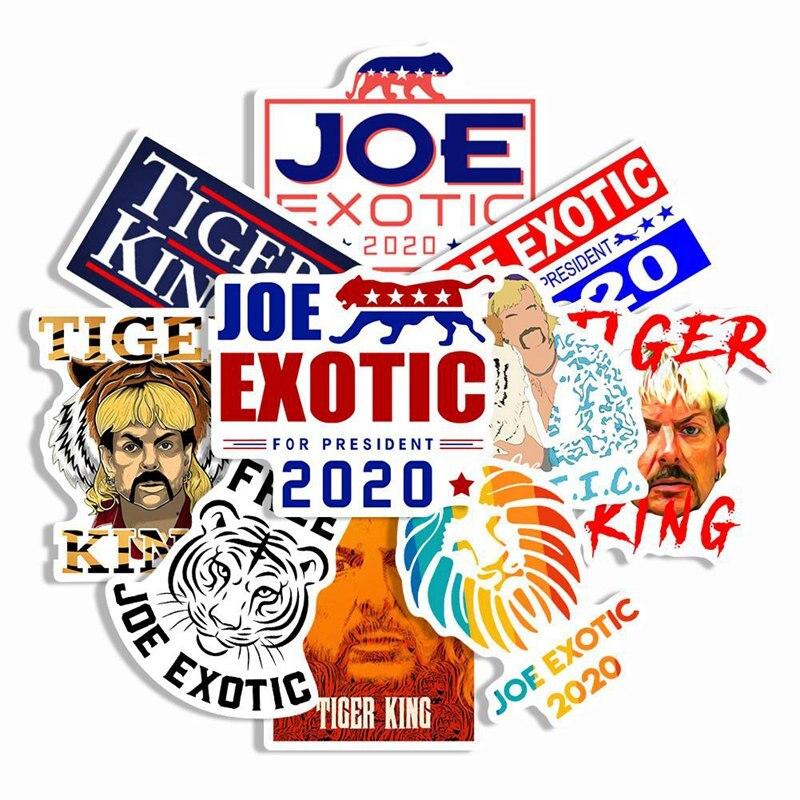 Тигр король Мак Америка экзотические снова бесплатно Джо экзотические наклейки для мотоцикла автомобиля багаж ноутбука велосипеда Холодильник Скейтборд