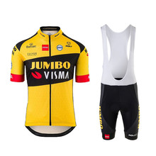 2020 new LOTTO JUMBO cycling jersey kit pro team men summer set completini ciclismo bicycle clothing bib 9D gel shorts(China)