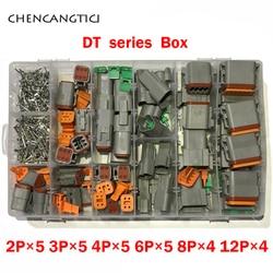 366 Uds Deutsch DT Auto impermeable conector de cable eléctrico Kits de DT06-2S 3S 4S 6S 8S 12S/DT04-2P 3P 4P 6 P 8P 12P
