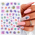 1 Pcs Leaf Flower 3D Nail Art Stickers Face Transfer Stickers for Nails Self-adhensive Decals Tips Decoration Paper