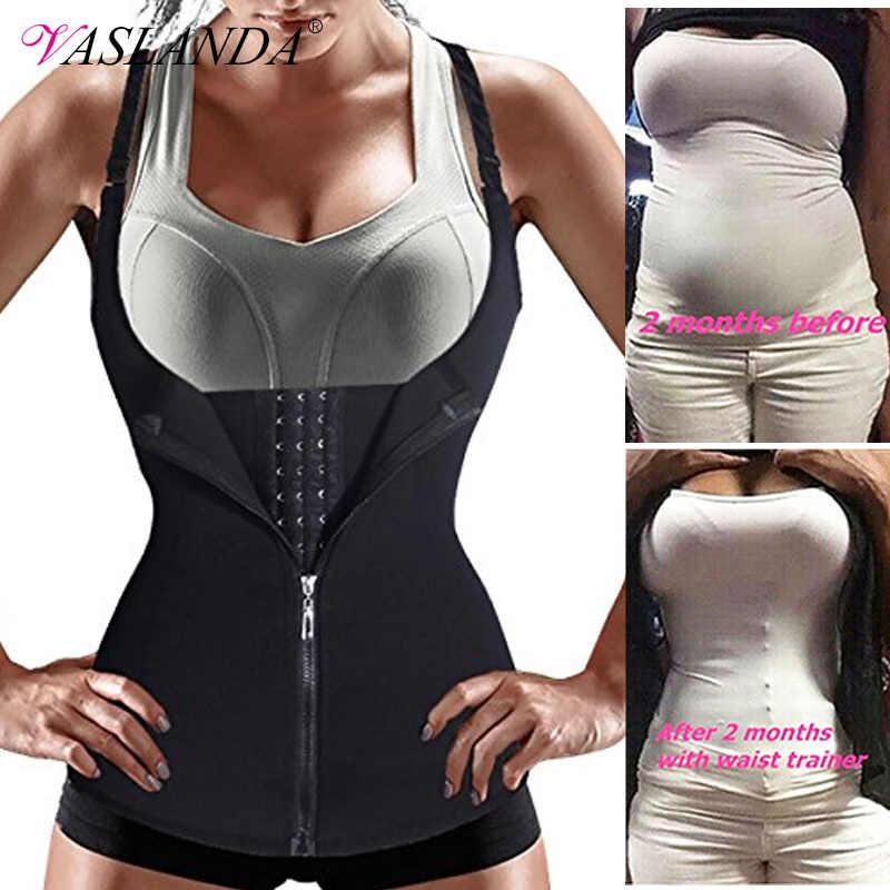 ผู้หญิงเอวเทรนเนอร์การบีบอัด Vest Body Shaper Slimming เสื้อออกกำลังกายถังเสื้อ Shapewear ซาวน่าชุดการสร้างแบบจำลองสายรัด Corset