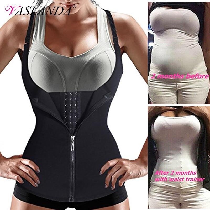 Women Waist Trainer Vest Body Shaper Slimming Shirts Workout Tank Tops Shapewear Sweat Sauna Suits Modeling Straps Corset