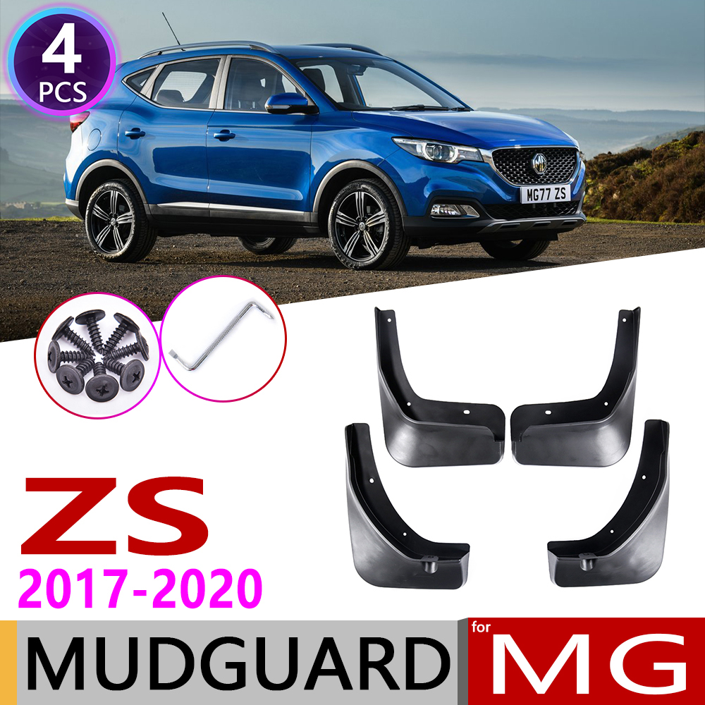 4 PCS Front Rear Car Mudflaps for MG ZS MGZS 2017 2018 2019 2020 Fender Mud Guard Flaps title=