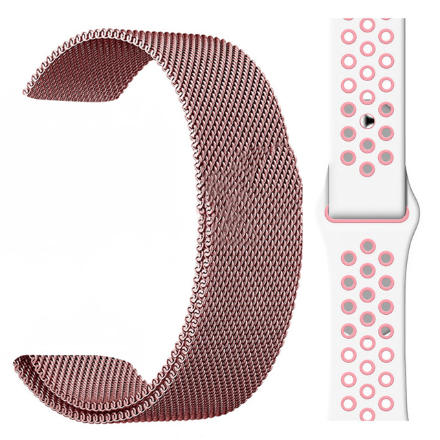 44mm Silicone Strap Band for Apple Watch Series 5/4/3/2/1 Rubber Wrist Bracelet Adapter for IWO 11 10 9 8