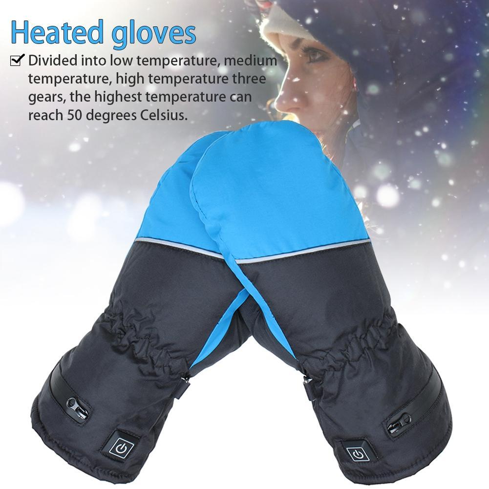 Gants de Ski gants imperméables avec fonction tactile Snowboard gants chauffants motoneige chaude neige gants chauffants hommes femmes