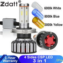 Zdatt H7 LED รถ H4 หลอดไฟ LED H11 CANbus 12000Lm 100W H8 9005 HB3 9006 3000K 6000K 8000K 12V 24V CSP Automoblies(China)
