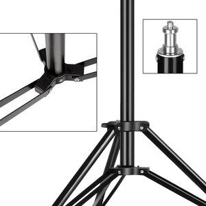 Image 5 - Ağır Metal 2m ışık standı Max yük 5KG Tripod fotoğraf stüdyosu Softbox Video flaş reflektör aydınlatma arka plan standı