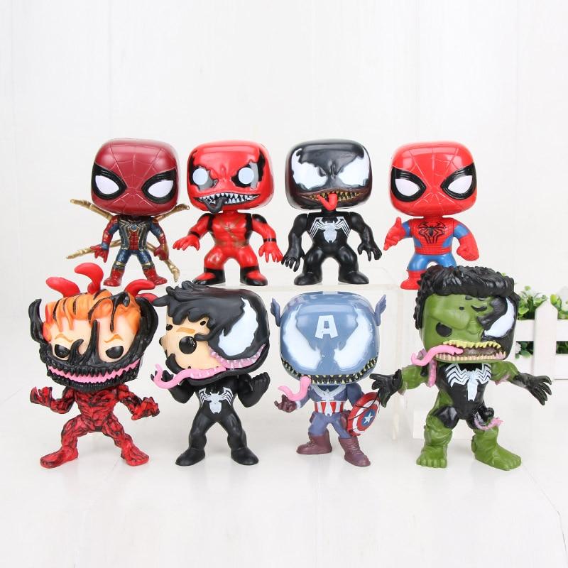 8pcs Avengers League WCF world collection Figure set gift toys new