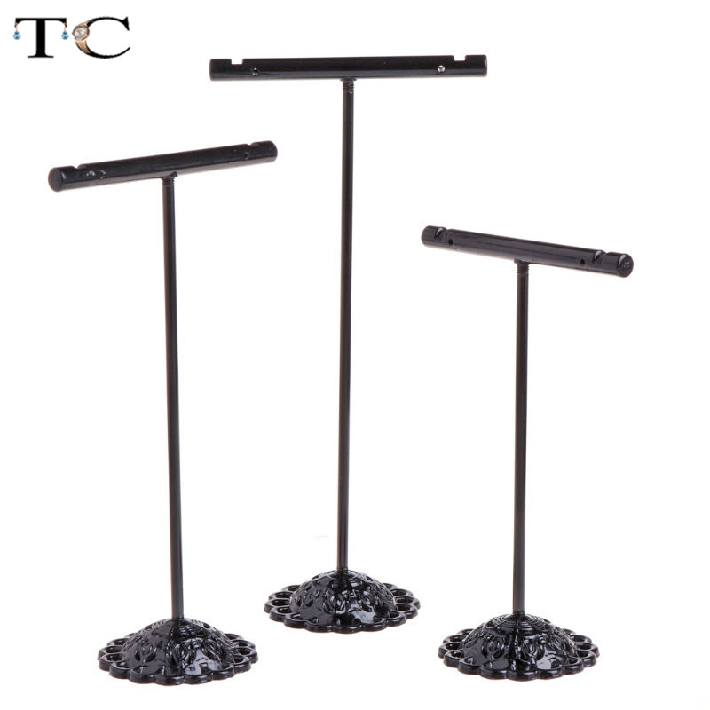 3pcs/lot Stainless Steel Tree T Bar Earrings Stand Holder Jewelry Rack Display Organizer Storage Showcase