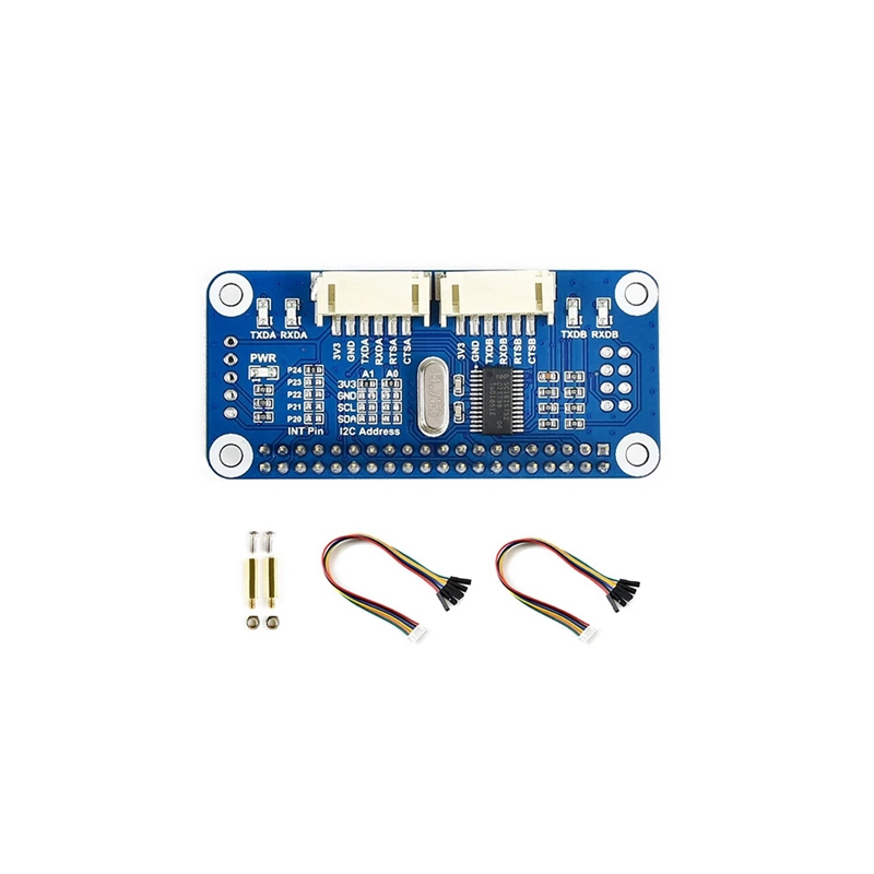 UART Serial Port Module HAT GPIO I/O Expansion Board Starter Kit for Raspberry Pi 3 4 Zero W H