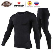 Herobiker мотоциклетная куртка мужская флисовая подкладка термобелье комплект лыжный костюм зимний теплый Мото куртка одежда 3 цвета