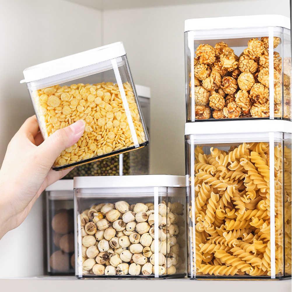 720/1100/1500ml przezroczysta pokrywka gospodarstwa domowego uszczelniona słoik do przechowywania żywności może pojemnik w europejskim stylu zamknięte pudełko o dużej pojemności zamknięte