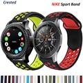 Ремешок силиконовый для Samsung Galaxy watch 3/46 мм/42 мм/Active 2/Gear s3 Frontier, браслет для Huawei watch GT/2/2E/Pro, 20 мм/22 мм