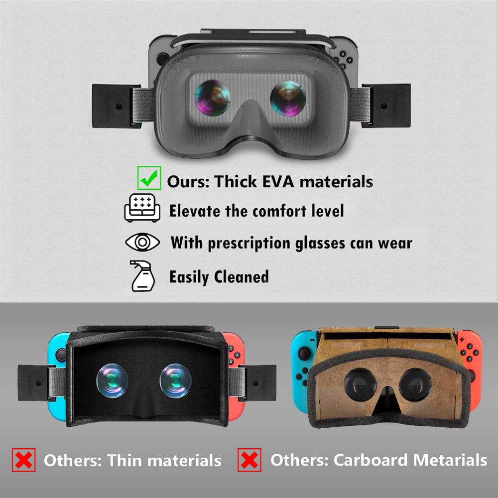 OIVO Switch VR Headset for Nintend Switch LABO VR Big lens Virtual Reality Movies Switch Game 3D VR Glasses for Odyssey Games 5