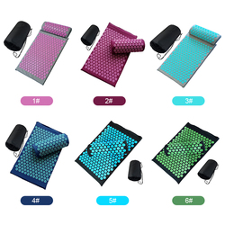Full Body Massager Cushion Long Acupressure Mat and Pillow Massage Set for Back Neck Pain Reliefs and Muscle Relaxation
