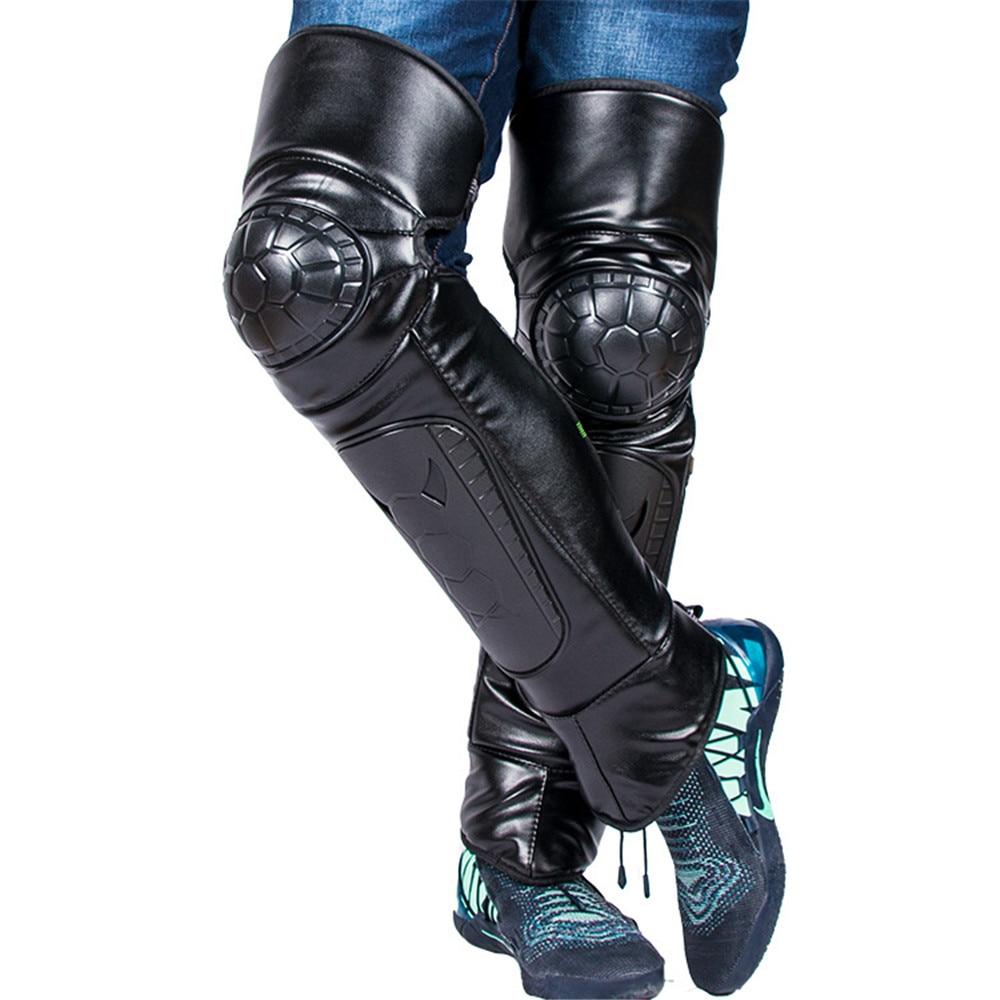Motorcycle Riding Warm Knee Pad Motorbike Kneepad Leg Protective Warmer Winter Against Wind PU Leather Waterproof