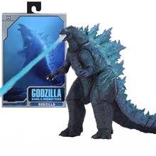 Bandai mavi Godzilla şekil film hayvan dinozor oyuncaklar nükleer Jet enerji sürümü canavar 18CM PVC mobil Model çocuklar hediye Figma