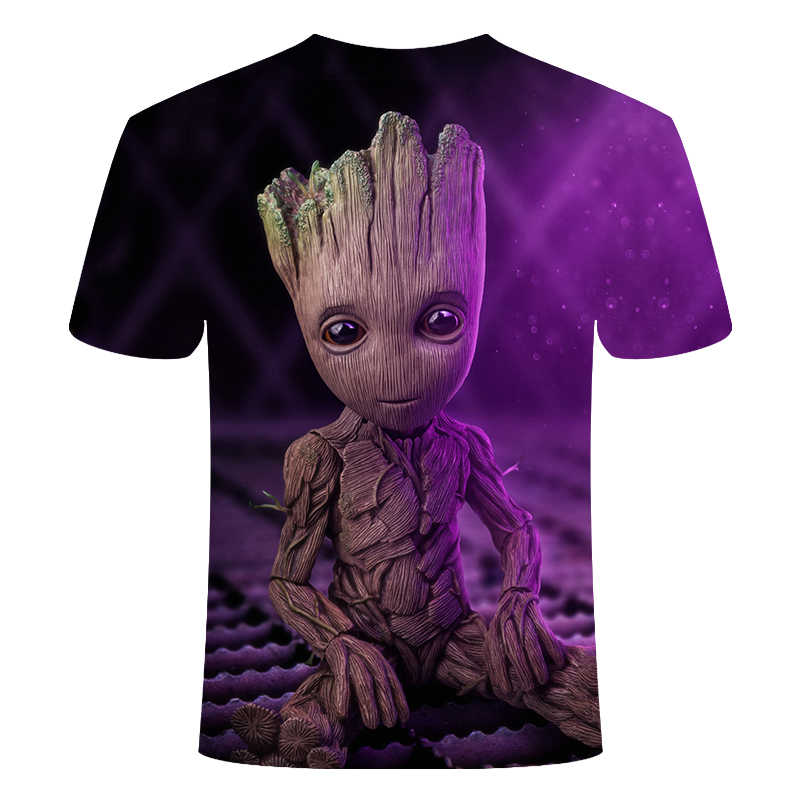 Groot T Shirts Tees Mannen Unisex X planeet monarch Bounty Hunter Superhero Movie guardians of the galaxy funny Novelty 3d t-shirt