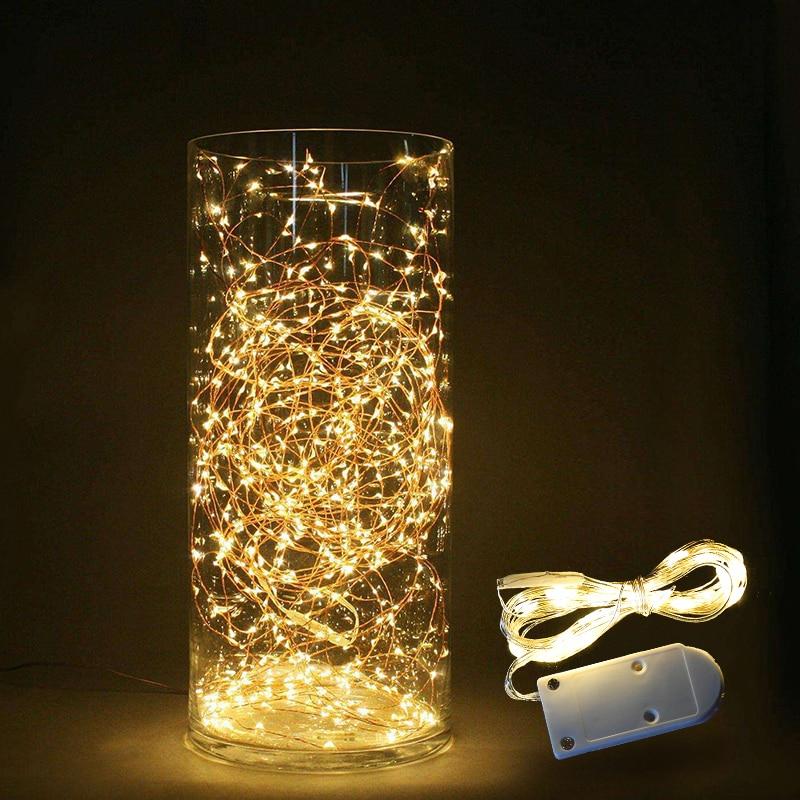 1-3M LED String Lights Home DIY Fairy Light Christmas Bottle Lights String Party Wedding Decoration Battery Powered LED Garland