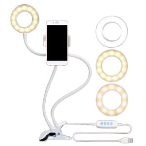 Telefone móvel de Apoio Ao Vivo Três-Luz de Preenchimento Multi-Função de Ajuste de Velocidade Vientiane Mangueira Rotativo Clipe Dobrável