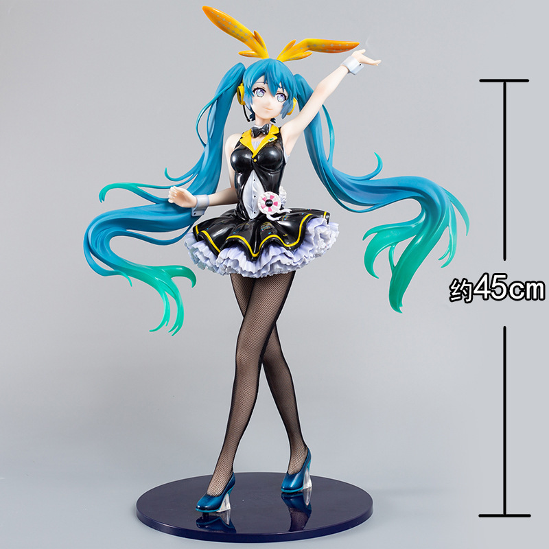 45cm Freeing B-style My Dear Bunny Hatsune Miku <font><b>1/4</b></font> Scale <font><b>Figure</b></font> Anime Decoration Pvc Girl <font><b>Sexy</b></font> Beauty Toy Static Action <font><b>Figures</b></font> image