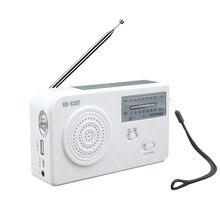 White Earphone Port Home SOS Alarm Dynamo Hand Crank AM FM LED Light Solar Radio Camping Travel ABS Portable Rechargeable