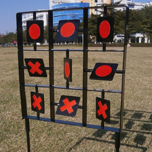 Heavy Duty Self Resetting Targets Kids Plinking Spinning Shooting Target Stand