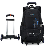 Neue 2020 High-kapazität Student Schulter Rucksack Roll Gepäck Kinder Trolley Koffer Rad Kabine Reise Duffle Schule Tasche