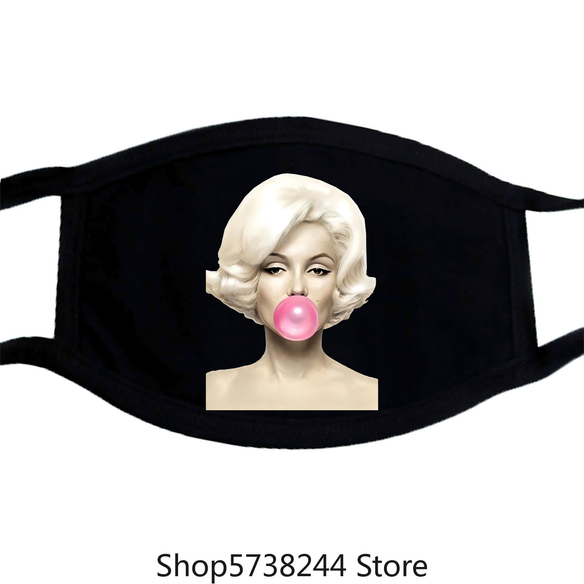 Marilyn Monroe Female Mask Women Bubble Gum Chewing Gum Print Aesthetic Clothes Graphic Tee