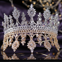 luxury 5A Level Full Cubic Zirconia Wedding Bridal Tall Tiaras and Crowns Engagement Headpieces Pageant Hair Jewelry Accessories bride luxury micro domain artificial zircon crowns trendy tiaras cubic zirconia crystal clear wedding hair accessories ha20022