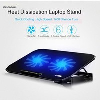 Jelly Comb Gaming Laptop Cooler Adjustable Speed 2 USB Ports and 2 Cooling Fan Laptop Cooling Pad Notebook Stand for 12-17 inch