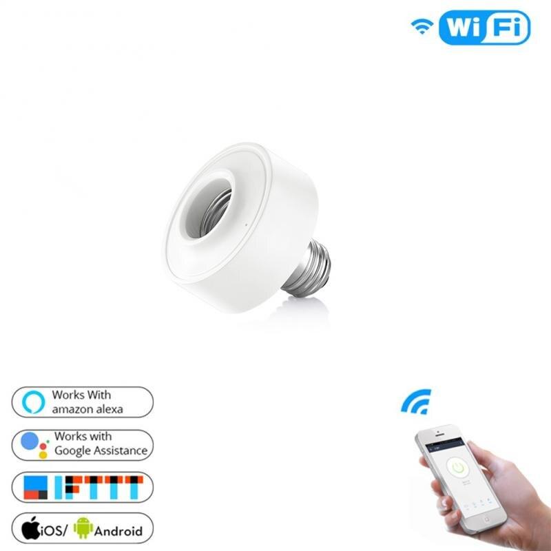 3PCS/1PCS Tuya Smart Life WiFi Light Socket Lamp Holder For E26 E27 Led Bulb Google Home Amazon Echo Alexa Voice Control App