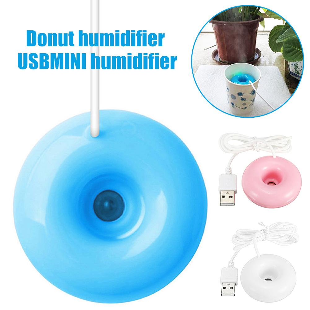 Portable Mini USB Air Humidifier Purifier Aroma Diffuser Steam Doughnut Shape Home Atomizer Cool Mist Maker For Home