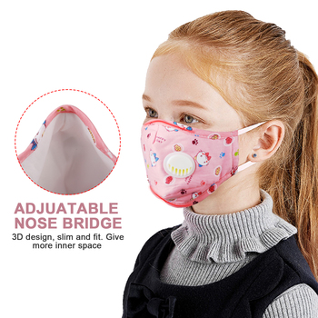 Reusable Children Mouth Mask Anti-Fog Haze Dust Pm 2.5 Face Mask Cartoon Breathable Half Face Mask Mouth Cover for Girls Boys