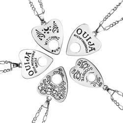 1 adet Paslanmaz Çelik Bakır Zincir 24 Inç Ouija Kurulu Planchette Kolye Kolye Yüksek Kalite Piercing göbek takısı