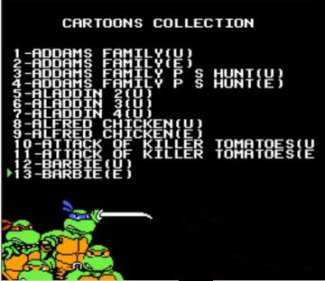 THE AFTERNOON CARTOONS COLLECTION 117 In 1 Game Cartridge For NES Console